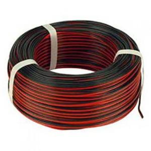 Bohm HLSS luidsprekersnoer 2x1.0mm² Rood/zwart 2502031